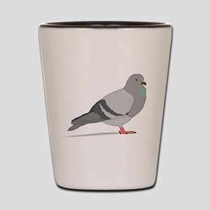 Cartoon Pigeon Shot Glass