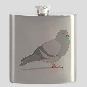 Cartoon Pigeon Flask