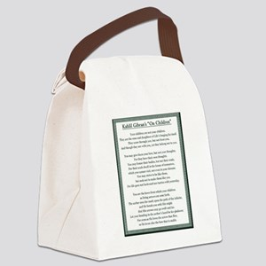 Kahlil Gibran 002 Canvas Lunch Bag
