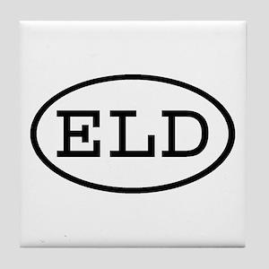 ELD Oval Tile Coaster