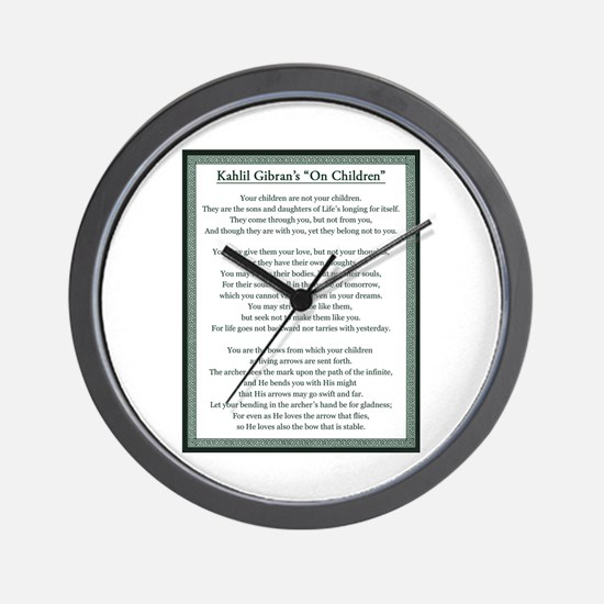 Kahlil Gibran 002 Wall Clock