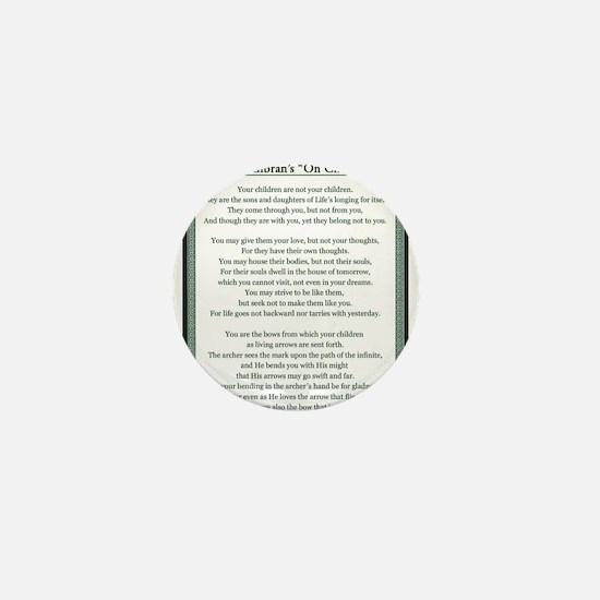 Kahlil Gibran 002 Mini Button