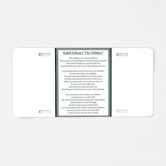 Kahlil Gibran 002 Aluminum License Plate
