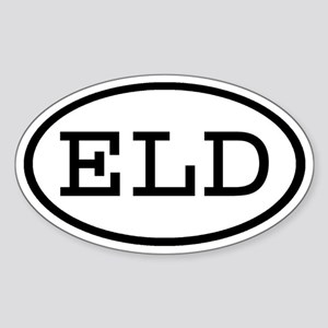 ELD Oval Oval Sticker