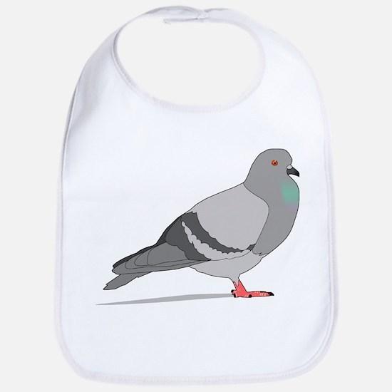 Cartoon Pigeon Bib