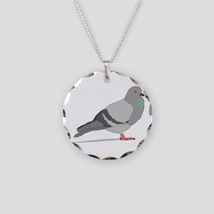Cartoon Pigeon Necklace Circle Charm