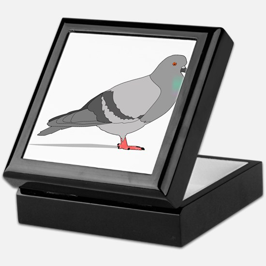 Cartoon Pigeon Keepsake Box