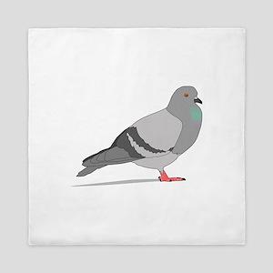 Cartoon Pigeon Queen Duvet