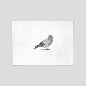 Cartoon Pigeon 5'x7'Area Rug