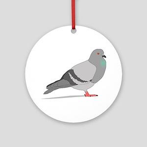 Cartoon Pigeon Ornament (Round)