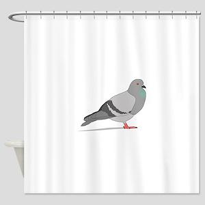 Cartoon Pigeon Shower Curtain