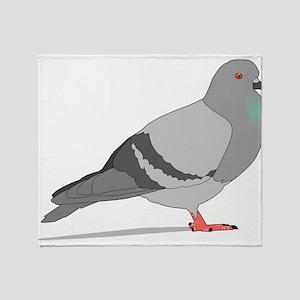 Cartoon Pigeon Throw Blanket