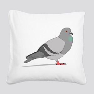 Cartoon Pigeon Square Canvas Pillow