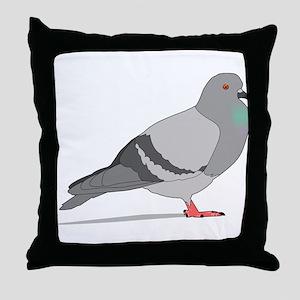 Cartoon Pigeon Throw Pillow