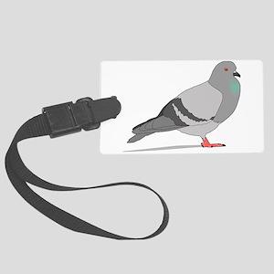 Cartoon Pigeon Large Luggage Tag