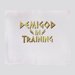 DEMIGOD in TRAINING Throw Blanket