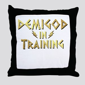 DEMIGOD in TRAINING Throw Pillow
