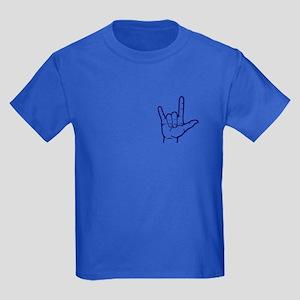 Dark Blue I Love You Kids Dark T-Shirt