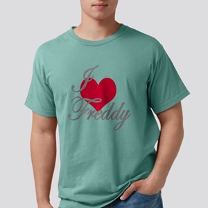 I love (heart) Freddy Mens Comfort Colors Shirt