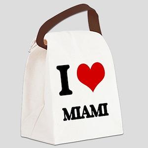 I Love Miami Canvas Lunch Bag