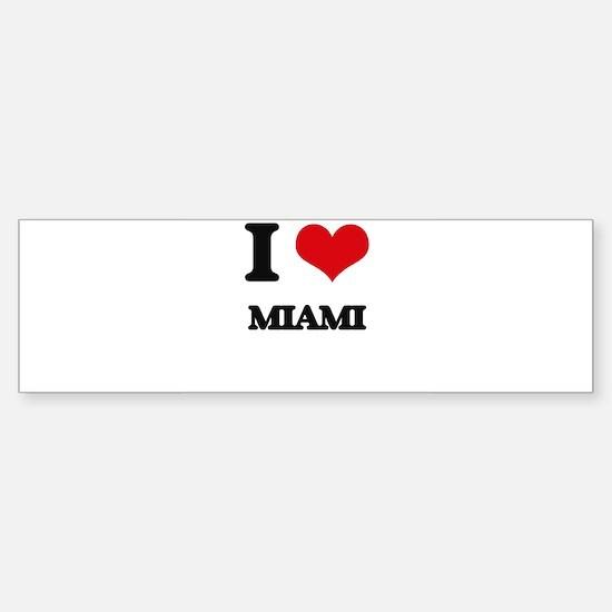 I Love Miami Bumper Bumper Bumper Sticker