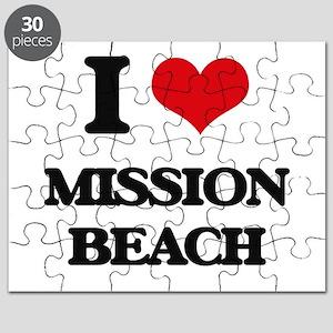 I Love Mission Beach Puzzle