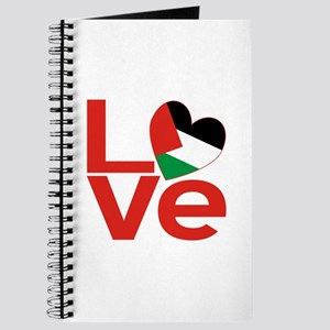 Red Palestinian LOVE Journal