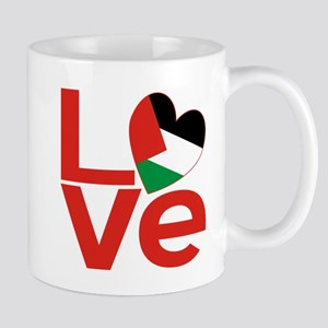 Red Palestinian LOVE Mugs