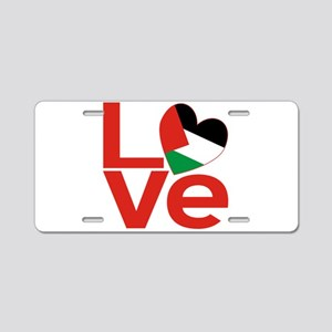 Red Palestinian LOVE Aluminum License Plate