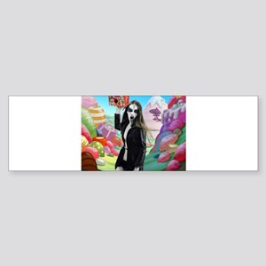 Goth Girl In Candyland 001 Bumper Sticker