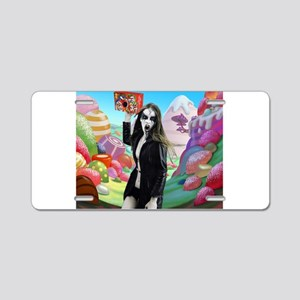 Goth Girl In Candyland 001 Aluminum License Plate