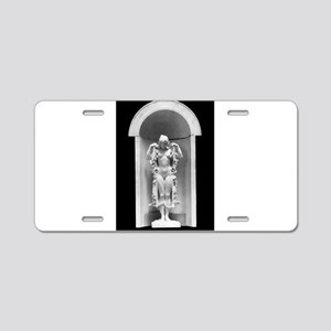 God statue Aluminum License Plate