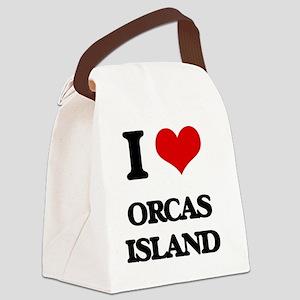I Love Orcas Island Canvas Lunch Bag