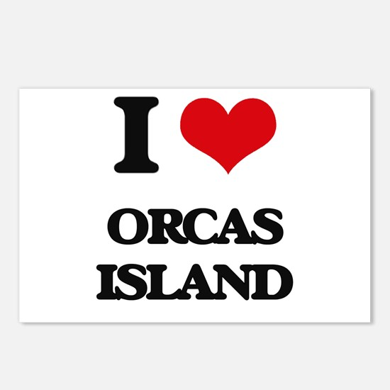 I Love Orcas Island Postcards (Package of 8)