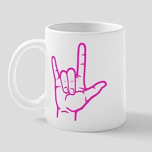 Fuchsia I Love You Mug