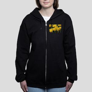 Daffodil flowers in bloom in ga Women's Zip Hoodie
