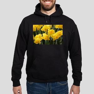 Daffodil flowers in bloom in garden Hoodie (dark)