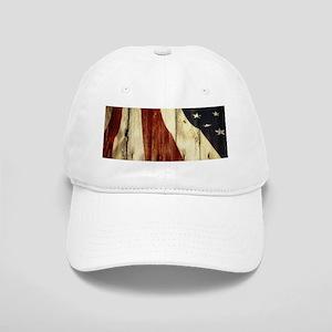 grunge USA flag American patriots Cap