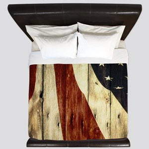 grunge USA flag American patriots King Duvet