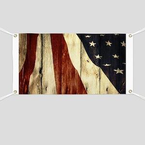 grunge USA flag American patriots Banner