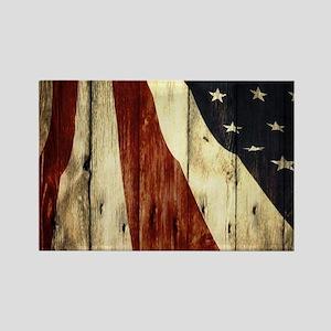 grunge USA flag Magnets