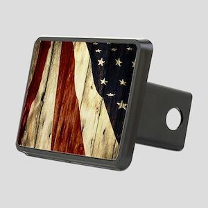 grunge USA flag American p Rectangular Hitch Cover