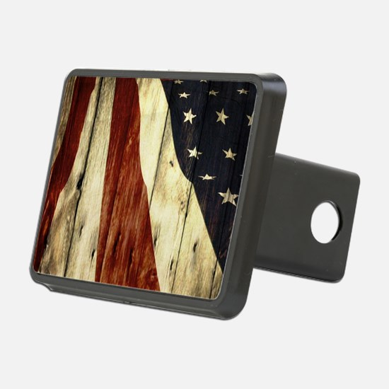 grunge USA flag American p Hitch Cover