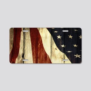 grunge USA flag American pa Aluminum License Plate