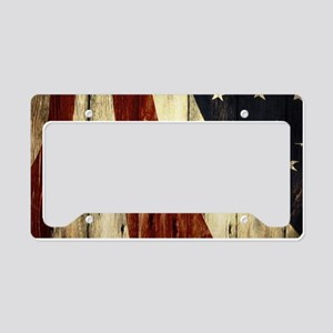 grunge USA flag American patr License Plate Holder