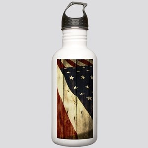 grunge USA flag Americ Stainless Water Bottle 1.0L