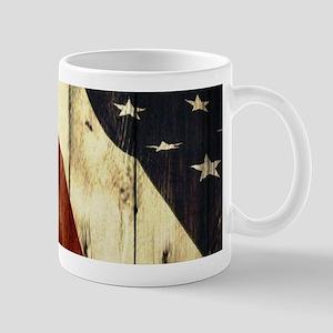 grunge USA flag American patriots Mugs