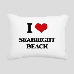 I Love Seabright Beach Rectangular Canvas Pillow