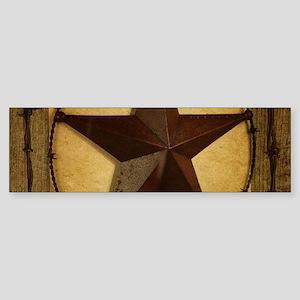 texas star horseshoe western Bumper Sticker