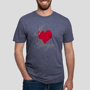 I love (heart) Ginger Mens Tri-blend T-Shirt